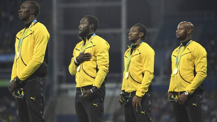 Imagen para la historia: Bolt, en su último podio olímpico