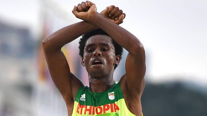 """El gesto político del medallista etíope: """"Podrían matarme..."""""""