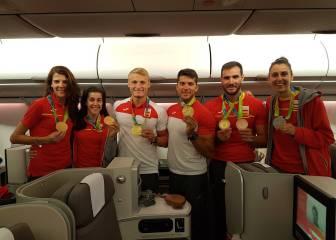 Llegan los héroes olímpicos