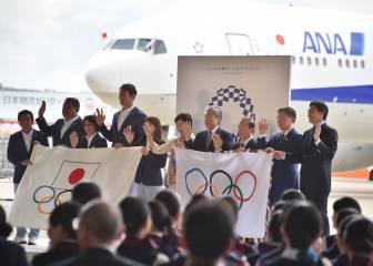 La bandera olímpica llega a Tokio para los Juegos de 2020