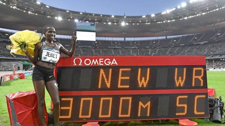 Ruth Jebet bate el récord mundial de los 3.000 obstáculos