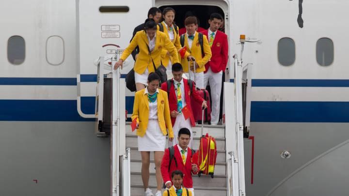 Hong Kong recibe a los atletas olímpicos chinos