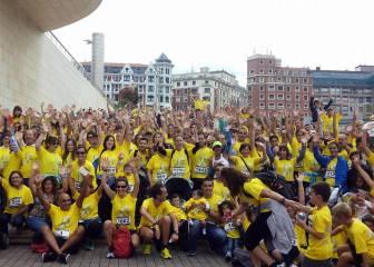 Más de 2.000 personas en una marea de solidaridad en Bilbao