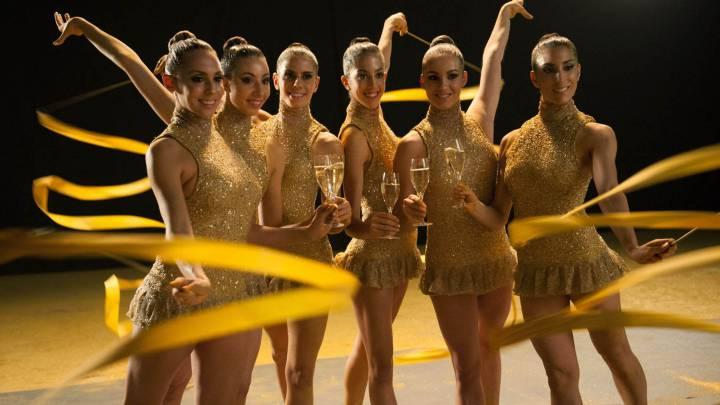 Las chicas de rítmica volverán a vestirse de burbujas Freixenet