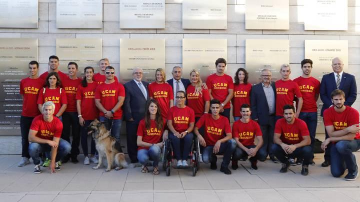 La UCAM y el COE homenajean a medallistas y diplomas de Rio
