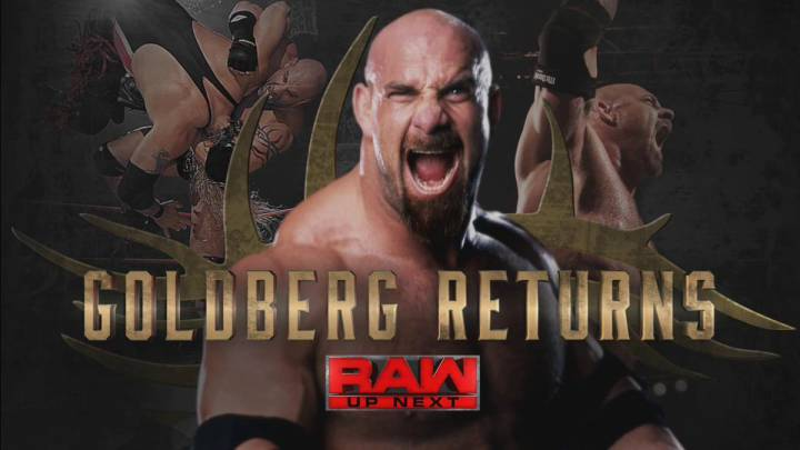 Goldberg regresa a la WWE; acepta el reto de Brock Lesnar