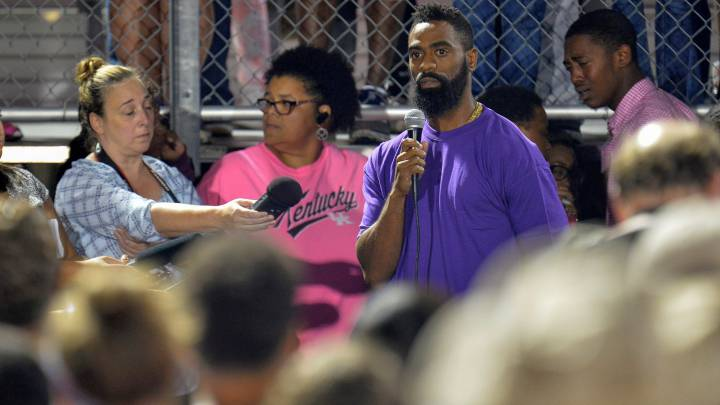 El emotivo discurso de Tyson Gay en la vigilia por su hija tiroteada