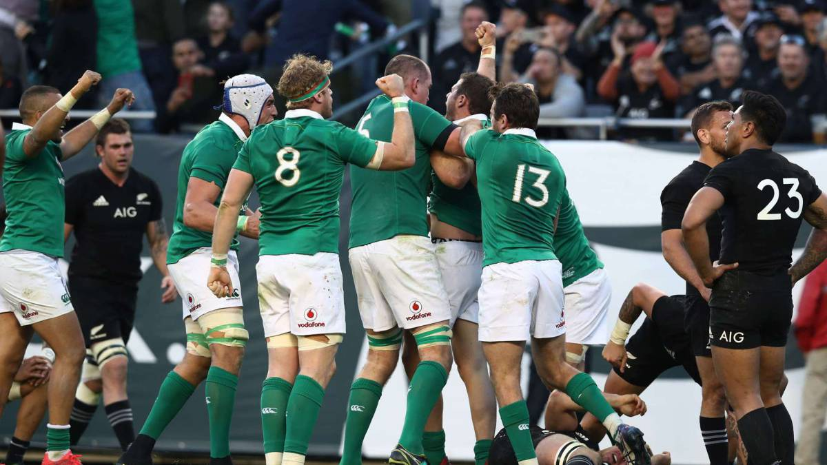 Irlanda sorprende a los All Blacks y acaba con su récord