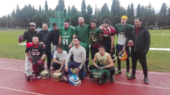 Así fue el try-out de la F6L de arena football en Coslada