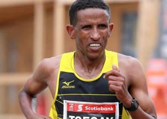 El etíope Yemane Tsegay gana el maratón de Fukuoka