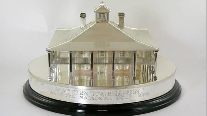 Imagen del trofeo del Masters de Augusta ganado por Arnold Palmer que ha salido a subasta.
