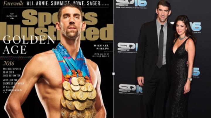 Phelps: 28 medallas y ocho kilos de gloria en una foto