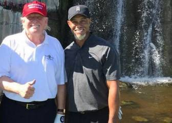 Tiger Woods juega golf con Donald Trump