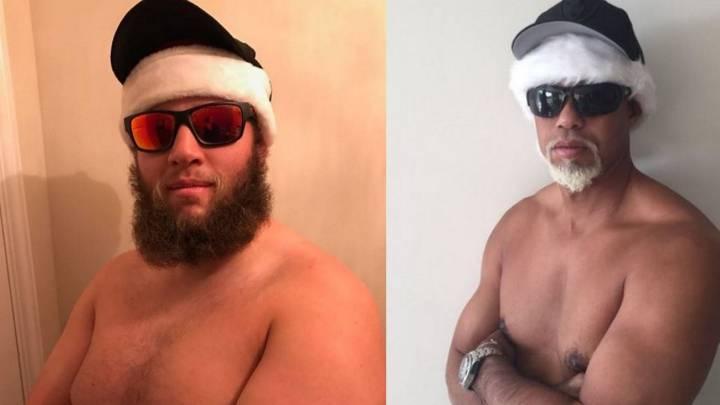 Johnston imita a Tiger Woods y crea su \'Mac Beef Santa\'