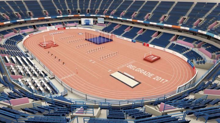 Vea cómo será la pista cubierta de los Europeos de Belgrado