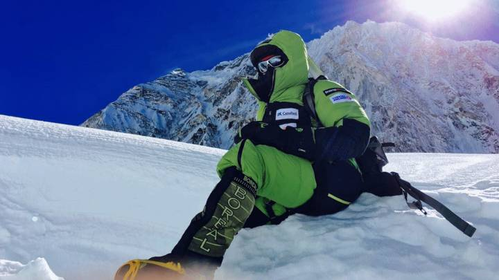Alex Txikon, en el Everest.