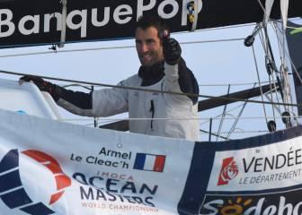 El francés Armel Le Cleac'h, vencedor con récord mundial
