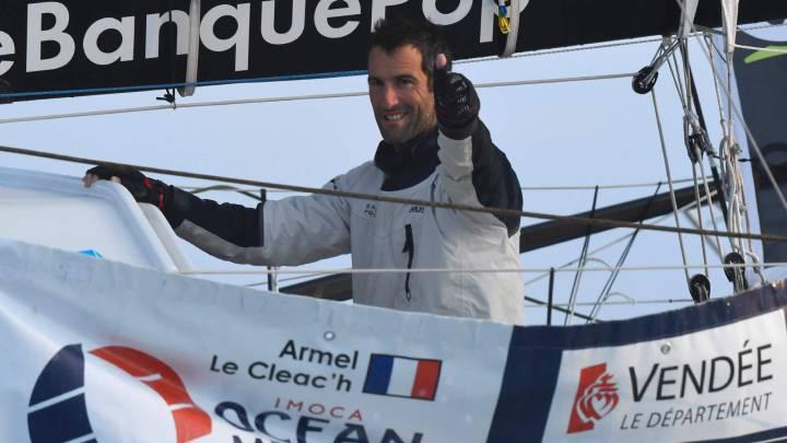 El francés Armel Le Cleac\'h, vencedor con récord mundial
