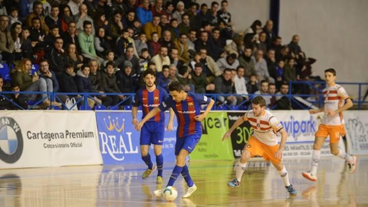 El Barça tampoco falla en Cartagena y sigue líder