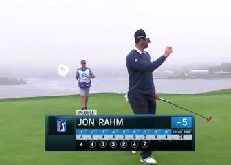 Espectacular remontada de Jon Rahm en Pebble Beach