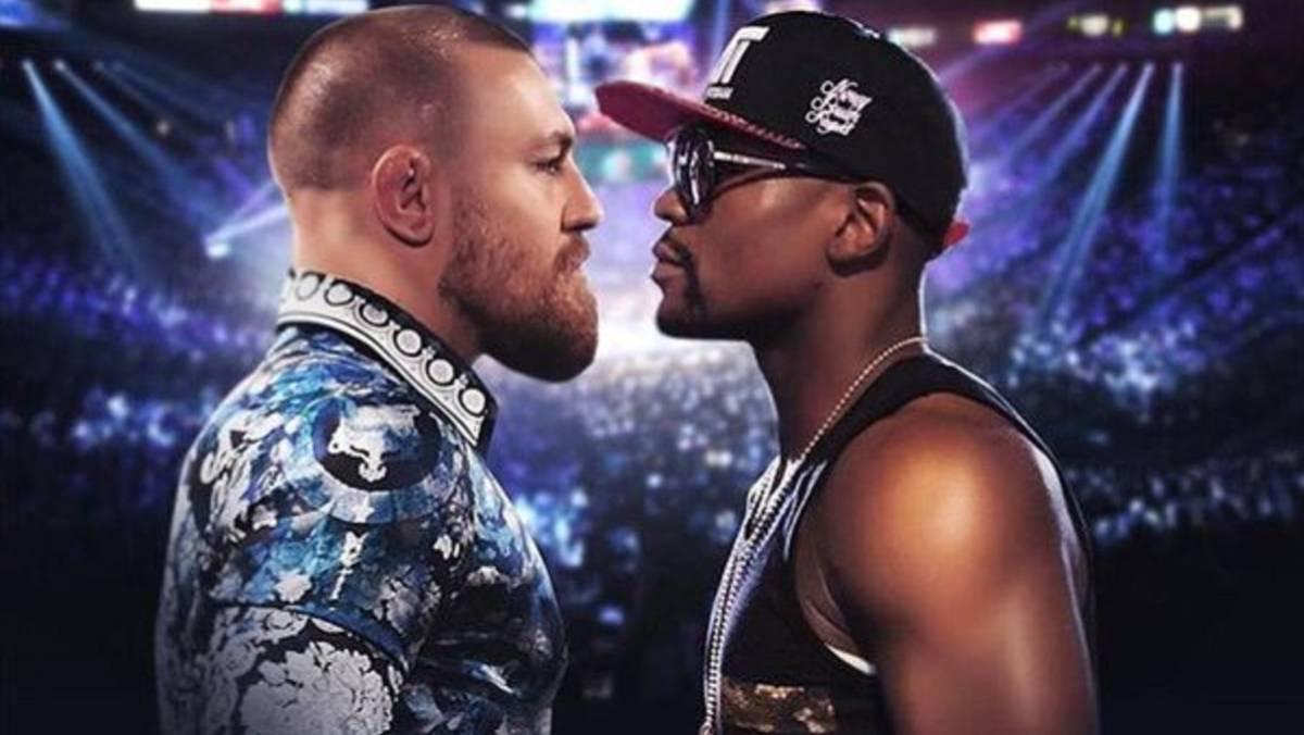 Conor McGregor y Floyd Mayweather combate boxeo