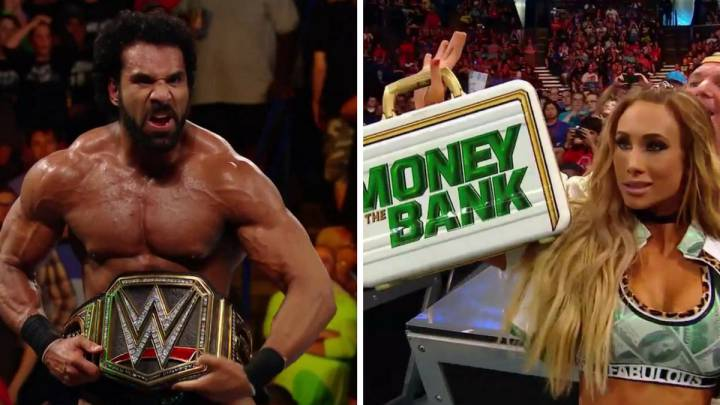 Jinder Mahal y Carmella celebran sus victorias en Money in the Bank.