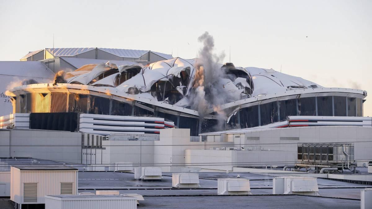 El Georgia Dome de Atlanta fue demolido