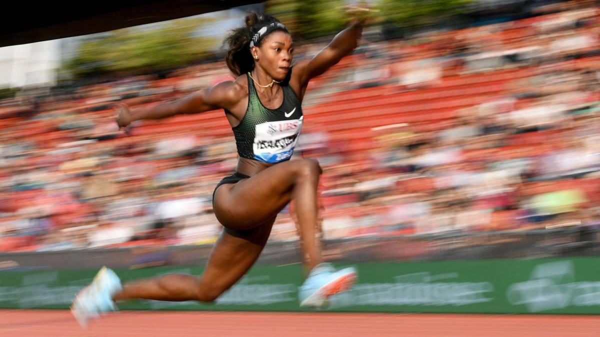 Caterine Ibargüen se coronó campeona en salto triple de la Liga Diamante