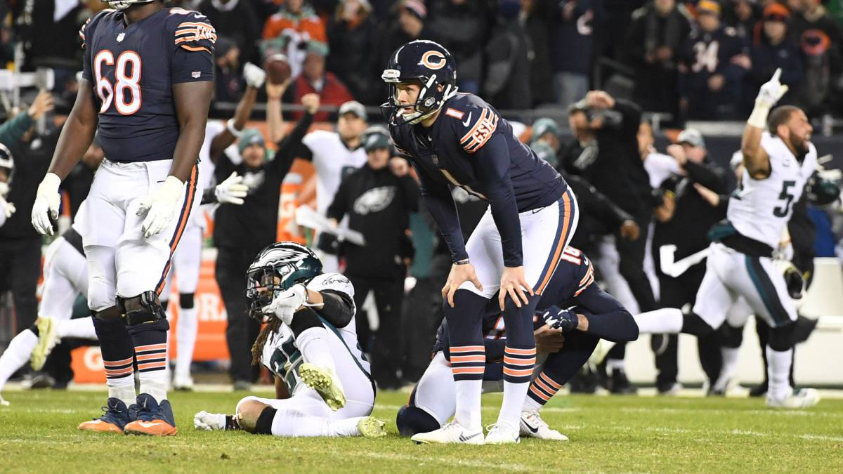 Eagles sorprenden a Bears