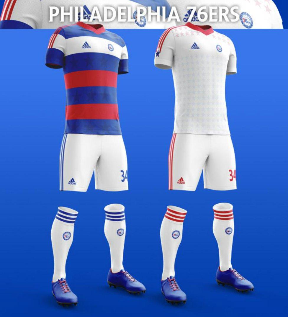 6b9ab5d8baa1f Básquetbol  Los nuevos uniformes de la NBA versión fútbol - AS México