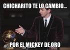 Los memes del 'Mickey de oro' que ganó Chicharito