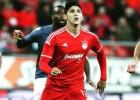 Pulido jugó nueve minutos en la victoria del Olympiakos
