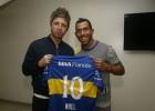 Noel Gallagher visitó a Carlos Tevez en la bombonera