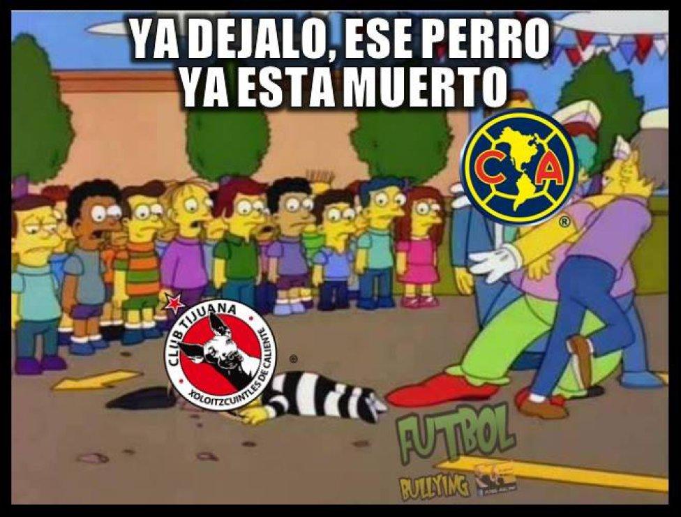 América vs Tijuana Los memes de la goleada de América ante Xolos , AS  México