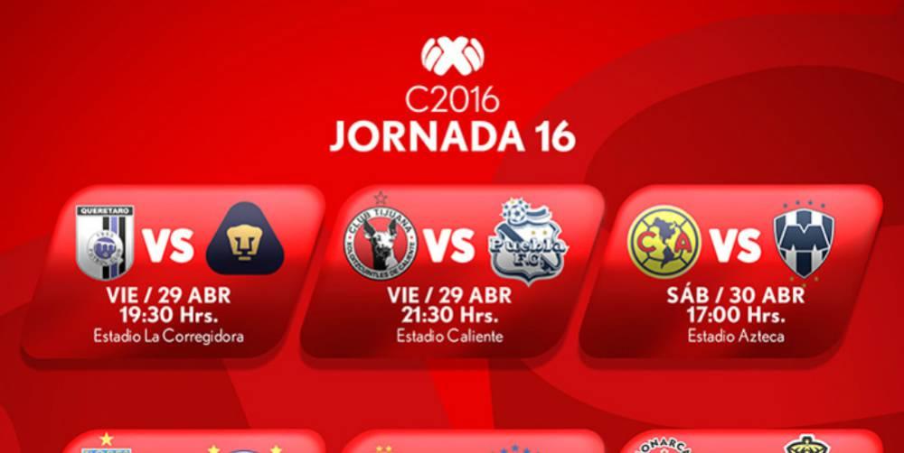 Liga MX: Todos los partidos de la Jornada 16 del fútbol mexicano - AS ...