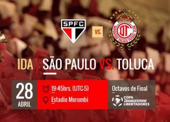 Sao Paulo vs Toluca EN VIVO: Copa Libertadores, Octavos