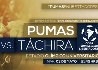 Pumas vs Táchira EN VIVO: Copa Libertadores, Octavos