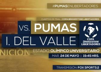 Pumas vs Independiente del Valle EN VIVO: Cuartos Copa Libertadores