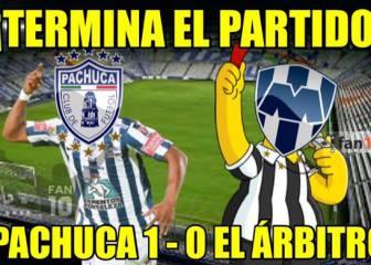 Pachuca se llevó la final de ida, pero Rayados se llevó los memes