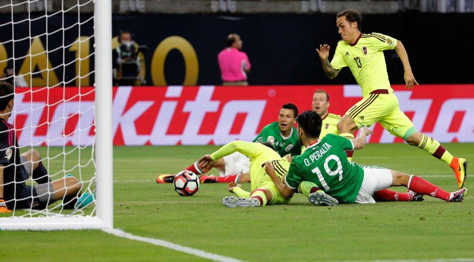 México empató ante Venezuela en la Copa América Centenario del 2016