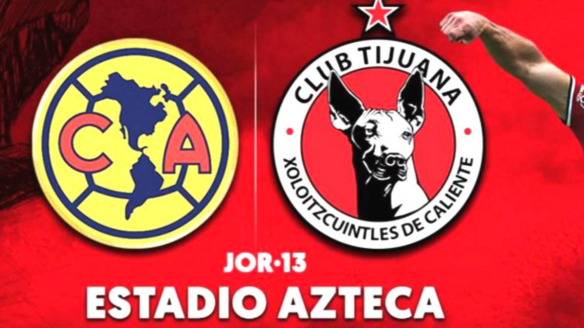 Cómo y dónde ver América vs Xolos de Tijuana  horarios y TV - AS México df89a170a2835