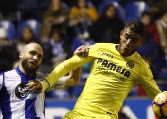 Con Dos Santos los 90', Villarreal empata ante Depor