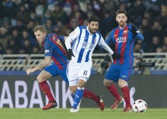 Carlos Vela y la Real Sociedad no pueden con el Barcelona
