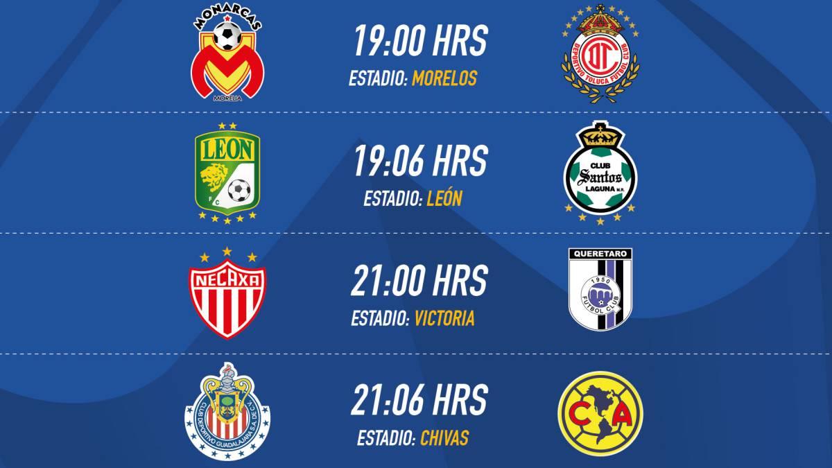 Fechas Y Horarios De La Jornada  Del Clausura  De La Liga Mx