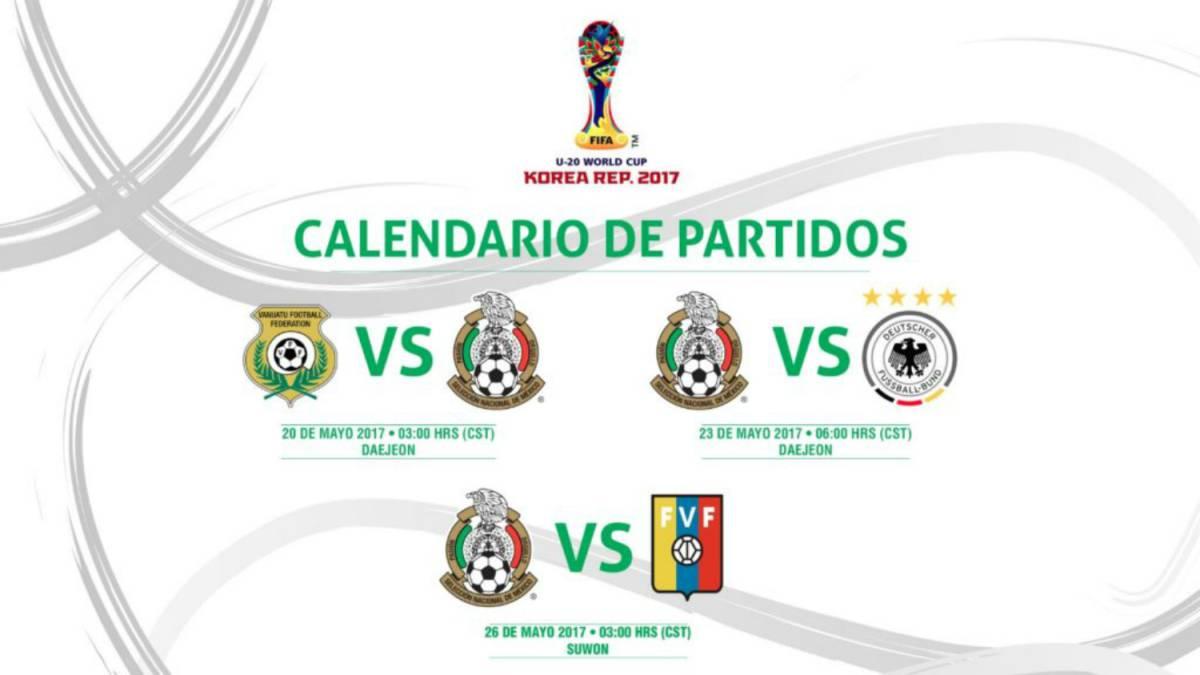 Mexico Ante Alemania Vanuatu Y Venezuela En El Mundial Sub