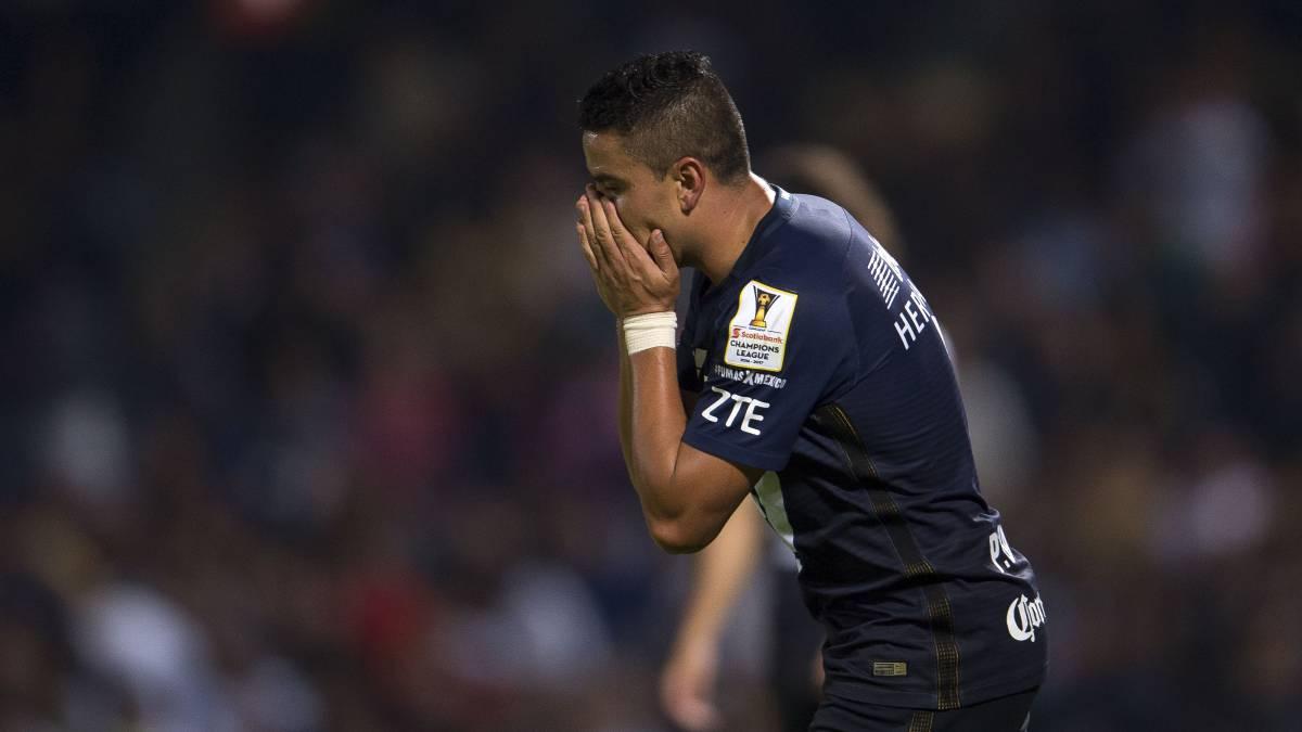 Pablo Barrera será baja en Pumas los próximos seis meses