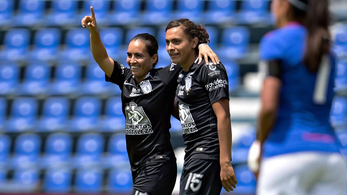 Pachuca humilla 9-1 a Cruz Azul en Liga MX Femenil
