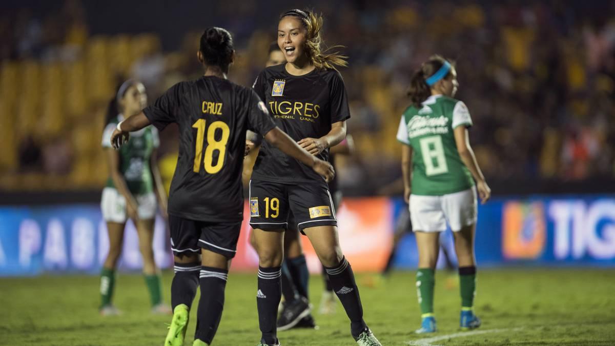 Histórica vapuleada en Liga MX femenil; Tigres aplastó 9-0 a León