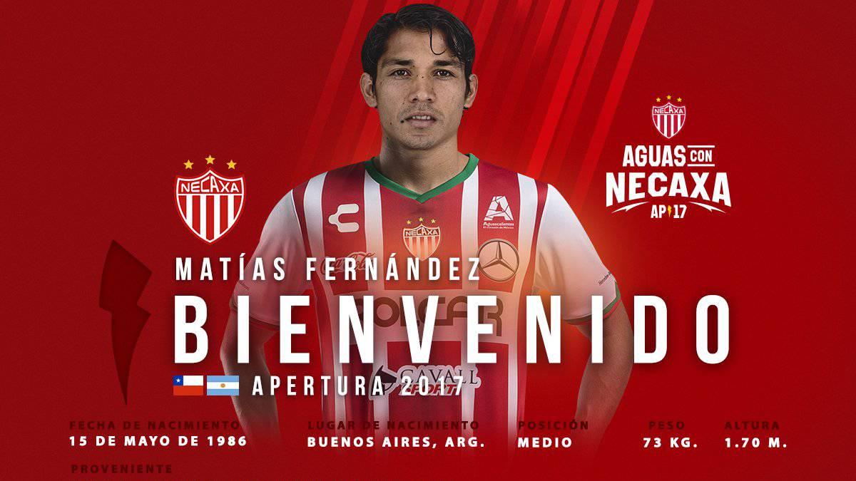 OFICIAL: Matías Fernández es nuevo jugador del Necaxa