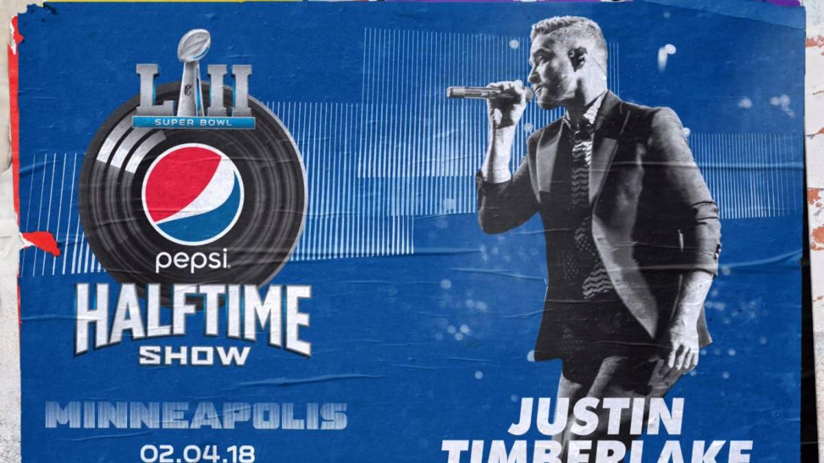 Justin Timberlake cantará en el medio tiempo de Super Bowl